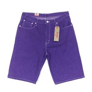 Levis 569 Loose Straight Denim Jean Shorts